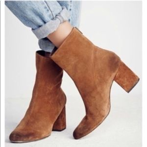 free people cecile 38.5 boots brown